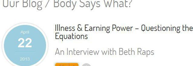 Illness and Earning Power: Birth = Worth Interview now Published!