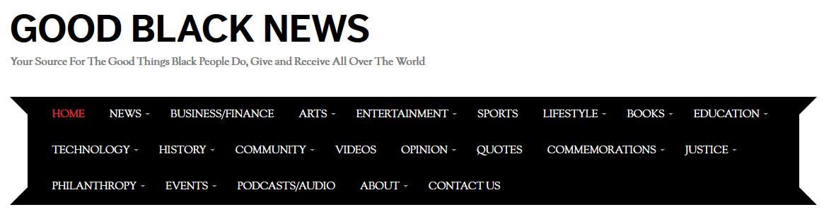 good black news masthead