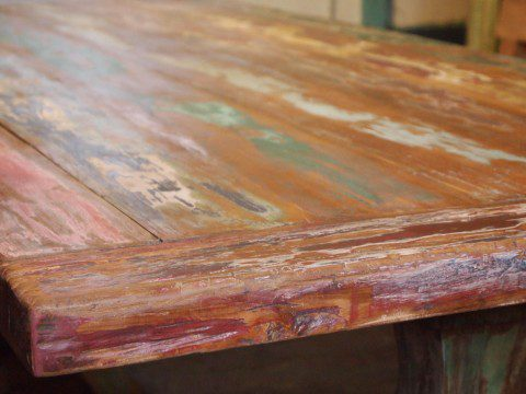 teak kloostertafel paint (2)