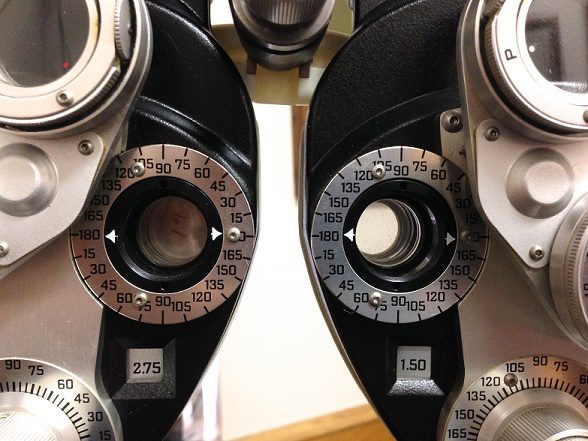 Eyesight-testing lenses