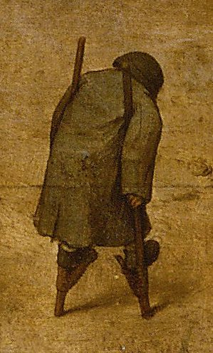 Stiltwalker.  Pieter Bruegel the Elder. This image is from this image...can you find the stiltwalker in the original, here? Thanks to Wikimedia Commons for access to both these beautiful, exquisitely detailed, historical images.